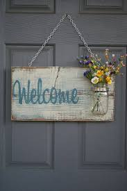 pallet wood welcome decor craft crafting ideas pinterest