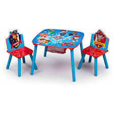 Kids Table With Storage by Delta Children Nick Jr Paw Patrol Table And Chair Set With Storage