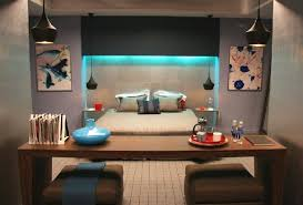 Futuristic Bedroom Design Futuristic Bedroom Design With Workspace And Lighting Home