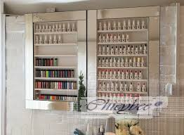 illuminated mirror framed nail polish rack u0026 beauty display beauty