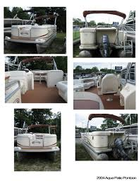 Aqua Patio Pontoon by 2004 Aqua Patio Pontoon Used Lake Ogemaw Marina West Branch Mi