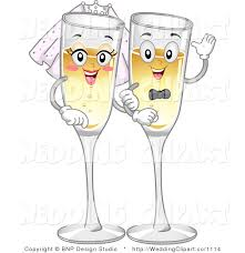 happy glass vector marriage clipart of a wedding happy chagne glass