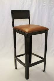 bar stools vintage industrial black bar stool with back and