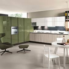 contemporary kitchen laminate lacquered high gloss sand by