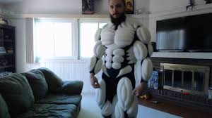 Latex Upholstery Foam Foam Muscle Suit Movement Test Youtube