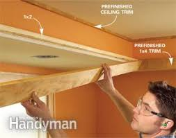 How To Build A Tray Ceiling How To Build A Soffit Box With Recessed Lighting Family Handyman