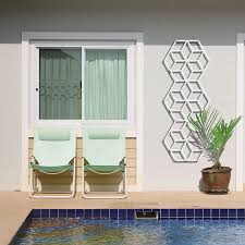 green wall trellis painted metal cube double 1300 14