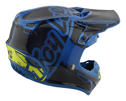 youth motocross helmet 2018 troy lee designs se4 mips team factory blue kids motocross