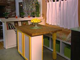 Diy Kitchen Table Ideas by Build A Movable Butcher Block Kitchen Table Island Hgtv