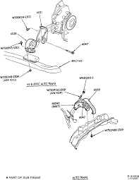 2000 mercury sable frame diagram ford taurus subframe recall kit