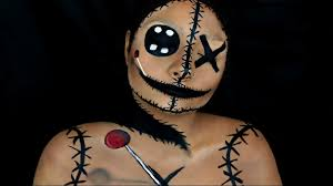 torn voodoo doll halloween makeup tutorial beautybyjosiek youtube
