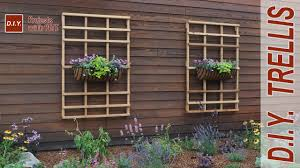 how to make a garden trellis diy trellis youtube