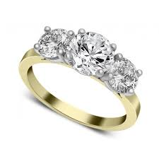 gold engagement rings uk 3 diamond gold engagement rings wedding promise diamond