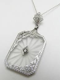 vintage diamond necklace pendants images Best 25 art deco necklace ideas flame art vintage jpg