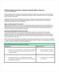 differentiated lesson plan template pdf 28 images
