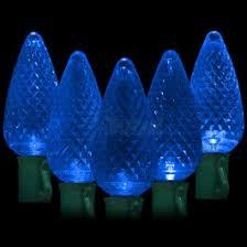 blue led christmas string lights led blue christmas lights 50 c9 faceted led bulbs 8 spacing 34 2ft