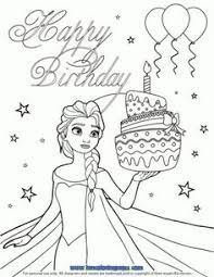 happy birthday coloring pages balloons kids coloring