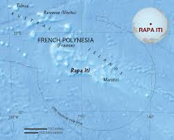 French Polynesia Map Rapa Iti National Geographic Society