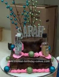 tier 21st birthday cake spotted fun feather spray