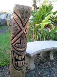 decorations tiki carvings tiki poles tropical decor nautical man
