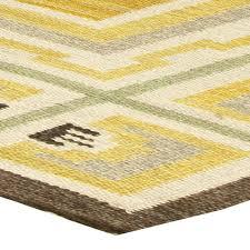 vintage swedish flat weave rug bb6156 by doris leslie blau