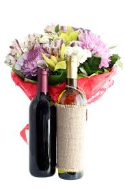 flowers wine bouquet flowers and wine isolated stock photo image of bottle