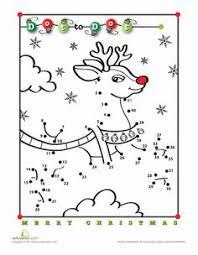 free online printable kids games christmas tree dot to dot