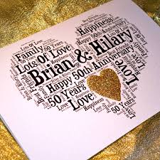 personalised 50th wedding anniversary sparkle card by sew