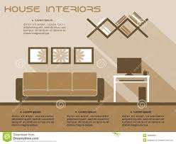 living room interior vector infographic template stock vector