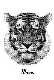 tiger says meow as premium poster by rk design juniqe uk