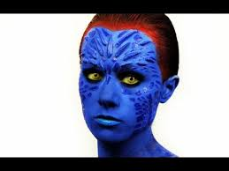 Mystique Halloween Costume Men Mystique Makeup Tutorial Emily Pickles Amazing