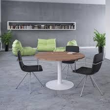 Circular Meeting Table Ensemble Circular Meeting Table Trumpet Base Allard Office Furniture