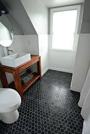 black bathroom floor tiles room design ideas