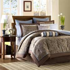 bedroom exciting opulent blue and brown bedroom panorama olpos