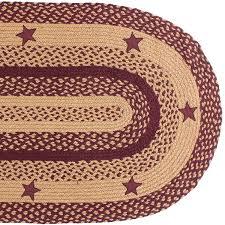 amazon com ihf home decor oval floor carpet braided rug 20