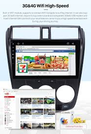 10 2 inch 2008 2012 honda city android 6 0 radio gps navigation
