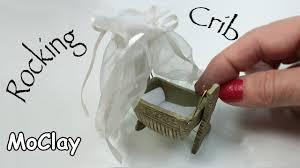 Mini Rocking Crib by Miniature Dollhouse Furniture Diy Rocking Cradle Youtube