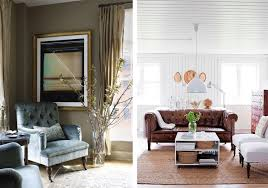 Living Room Curtain Looks A Blue Gray Tufted Armchair Upholstered In Velvet Looks Chic Yet