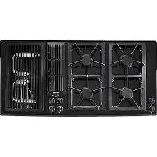 Jenn Air Downdraft Cooktop Electric Shop Jenn Air 45 Inch Gas Downdraft Cooktop Color Black At