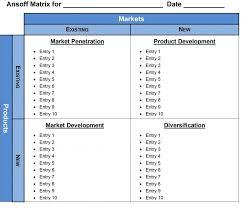 ansoff matrix template word 2007 2010 2013 verktyg
