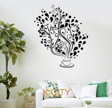 search aliexpress image coffee cafe fancy tree kitchen bar restaurant office wall art decal sticker removable vinyl transfer stencil mural room decor