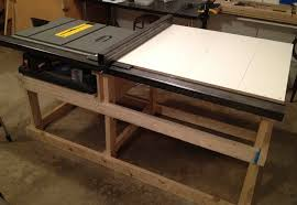 how to build a table saw workstation table saw station