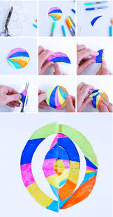 easy christmas craft 3d paper ornaments babble dabble do