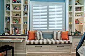 Bookshelf Seat Decoration Simple And Neat White Wooden Bookshelf And Parquet