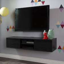 Wall Mounted Entertainment Console South Shore Agora Wide Wall Mounted Media Console 56 Inch