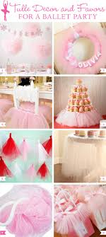 tulle decorations tulle decor and favors for a ballet party chickabug