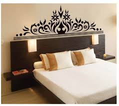 aliexpress com buy black flowers wall decoration sticker bedroom aliexpress com buy black flowers wall decoration sticker bedroom headboard wall poster art removable pvc wall decal headboard wall mural 170 x 60cm from