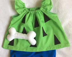 Pebbles Halloween Costume Pebbles Bam Bam Costume Etsy