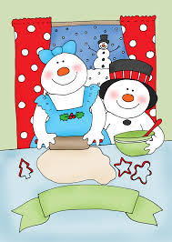 free dearie dolls digi stamps christmas cookies are snow good