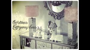 glam christmas home decor christmas entryway ideas youtube